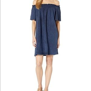 French Connection Chisulo Off Shoulder Dress blue